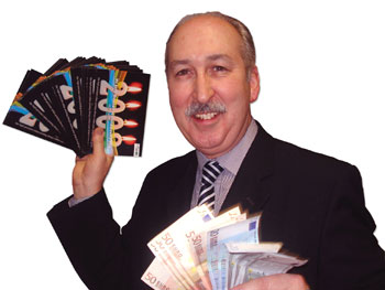 John Hayes of Hurricane Print, Ireland, enjoys the results of his first PressReady Mailing