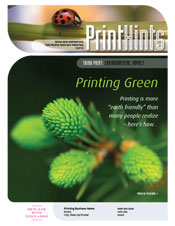 Marketing for Printers PrintHints Newsletter 2012-3